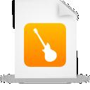 Document, File, Guitar, Instrument, Music, Orange, Paper Icon