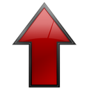 Arrow, Red, Up Icon