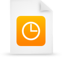 Document, File, g, Orange, Paper Icon