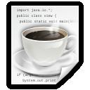 Java, Text, x Icon