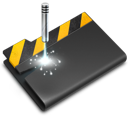 Folder, Laser, Wip Icon