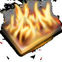 Black, Burn Icon