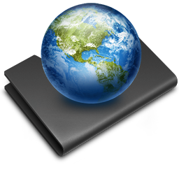 Black Earth Folder Sites Icon Download Free Icons