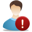 Male, User, Warning Icon