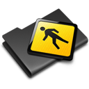 Black, Folder, Public Icon