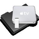 Apple, Black, Tv Icon