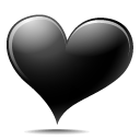 Black, Heart Icon
