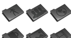 Pry Etched Black Icons