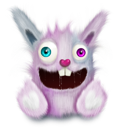 Animal, Pink, Rabbit, Smile Icon