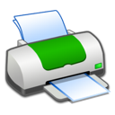 Green, Printer Icon