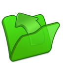 Folder, Green, Parent Icon