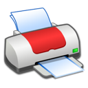 Printer, Red Icon