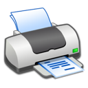 Printer, Text Icon