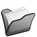 Black, Folder, Mydocuments Icon