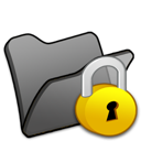 Black, Folder, Locked Icon