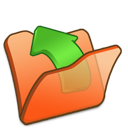 Folder, Orange, Parent Icon