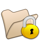 Beige, Folder, Locked Icon