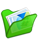 Folder, Green, Mypictures Icon
