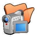 Folder, Orange, Videos Icon
