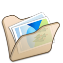 Beige, Folder, Mypictures Icon
