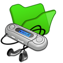 Folder, Green, Mymusic Icon