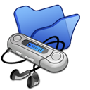 Blue, Folder, Mymusic Icon
