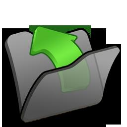 Black, Folder, Parent Icon