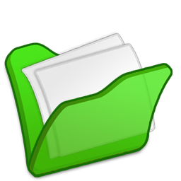 Folder, Green, Mydocuments Icon