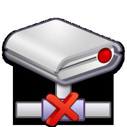 Drive, Error, Network Icon