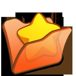 Favourite, Folder, Orange Icon