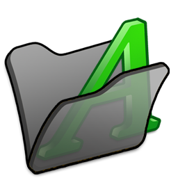 Black, Folder, Font Icon