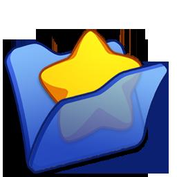 Blue, Favourite, Folder Icon
