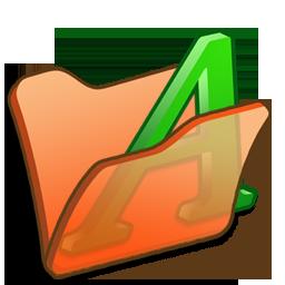 Folder, Font, Orange Icon
