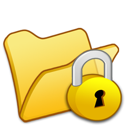Folder, Locked, Yellow Icon