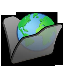 Black, Folder, Internet Icon
