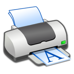 Portrait, Printer Icon