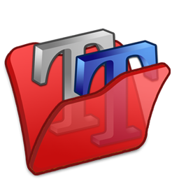 Folder, Font, Red Icon