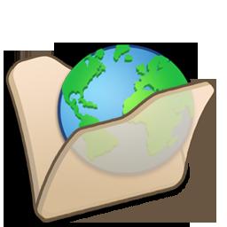 Beige, Folder, Internet Icon
