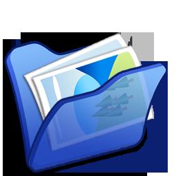 Blue, Folder, Mypictures Icon