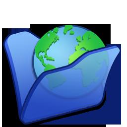Blue, Folder, Internet Icon