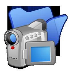 Blue, Folder, Videos Icon