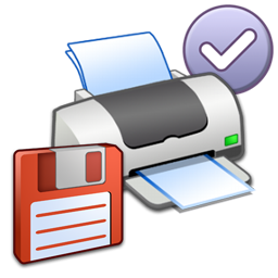 Default, Floppy, Printer Icon