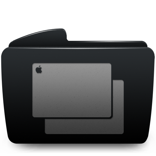 Black, Folder, Wallpapers Icon