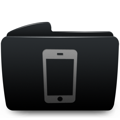 Black, Folder, Iphone Icon