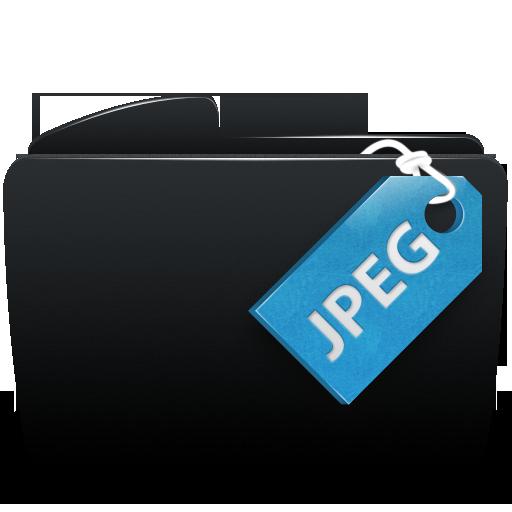 Black, Folder, Jpeg Icon
