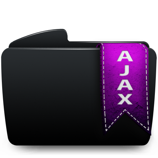 Ajax, Black, Folder Icon