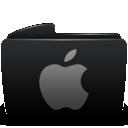 Apple, Black, Folder Icon