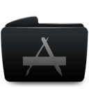 Applications, Black, Folder Icon