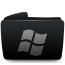 Black, Folder, Window Icon