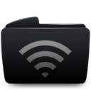 Black, Folder, Wifi Icon